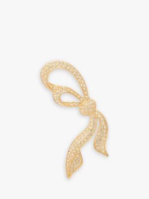 Susan Caplan Vintage Napier Gold Plated Swarovski Crystal Bow Brooch, Gold