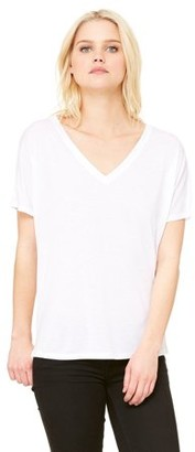 Clementine Apparel Women's Flowy Simple V-Neck T-Shirt
