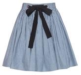 Miu Miu Striped Cotton Miniskirt