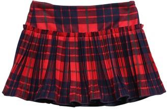Il Gufo Pleated Tartan Skirt