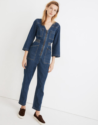 Madewell Denim Patch Pocket Coverall Jumpsuit in Amfield Wash