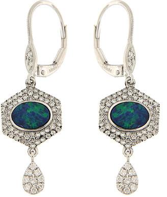 Meira T 14K 1.30 Ct. Tw. Diamond & Opal Earrings