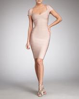 Cap-Sleeve Bandage Dress, Bare