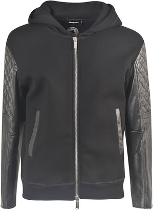 DSQUARED2 Quilted Sleeve Zipped Hoodie