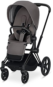 CYBEX ePriam Electronic Assist Stroller with Matte Black Frame