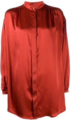 Le Kasha Silk Oversized Blouse