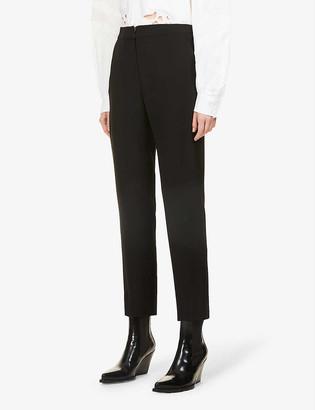 Diane von Furstenberg Wide-leg mid-rise crepe trousers