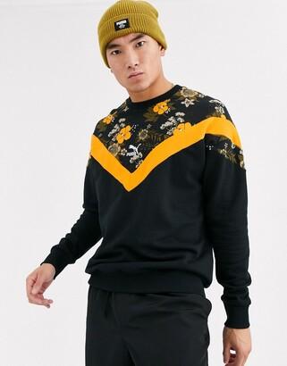 Puma Floral Iconic Sweatshirt-Black