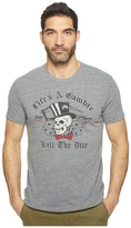 "Lucky Brand Life's A Gamble"" Graphic Tee"