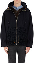 Kolor Men's Leopard-Flocked Wool-Blend Anorak-NAVY