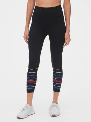 Gap GapFit High Rise Blackout Stripe Print 7/8 Leggings