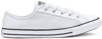 Converse Chuck Taylor All Star Leather Dainty Ox Plimsolls - White