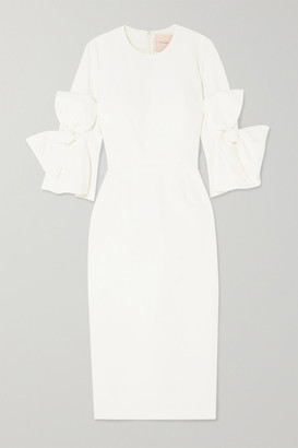 Roksanda Lavete Bow-embellished Crepe Midi Dress - Ivory