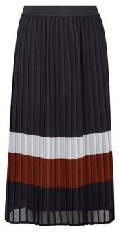 Dorothy Perkins Womens Multi Colour Striped Pleated Midi Skirt