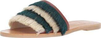 Dolce Vita Women's CELAYA Slide Sandal Blue Fringe 9.5 M US