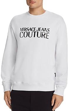 Versace Patent Logo Applique Sweatshirt
