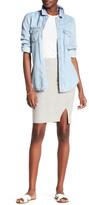Three Dots Edda Seamed Slit Skirt