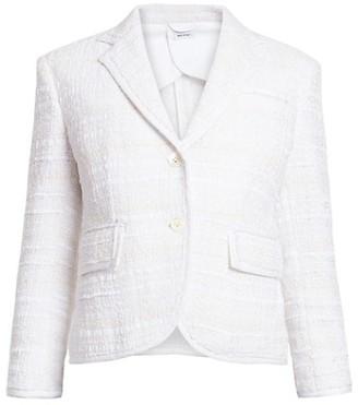 Thom Browne High-Armhole Tweed Blazer