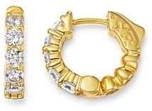 Bloomingdale's Diamond Huggie Hoop Earrings in 14K Yellow Gold, 1 ct. t.w. - 100% Exclusive