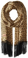 Betsey Johnson Swanky Leopard Wrap Scarves