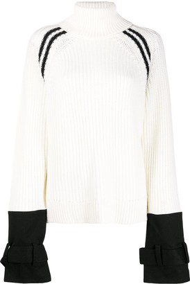 Neil Barrett Coat Cuff Knit Jumper