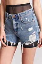Forever 21 Sheer Mesh Biker Shorts