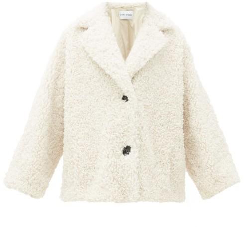 Stand Studio Merilyn Faux-shearling Coat - Womens - Ivory