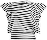 Junya Watanabe Striped asymmetric cotton-jersey T-shirt