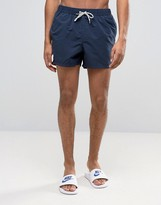 Asos Swim Shorts In Navy Short Length