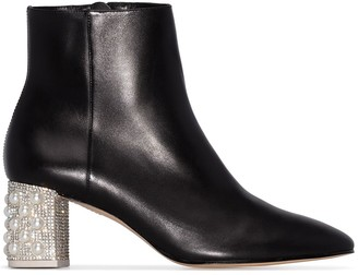Sophia Webster Toni embellished heel boots