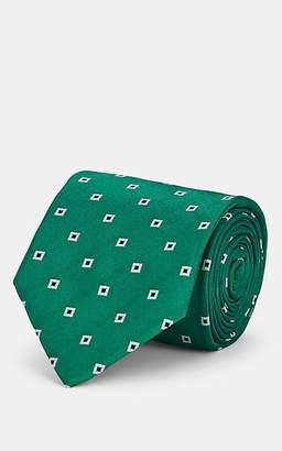 Isaia Men's Square-Medallion Silk Necktie - Green
