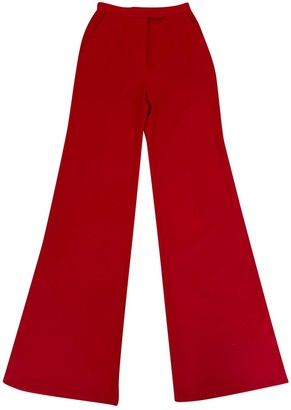 Elie Saab Red Trousers for Women