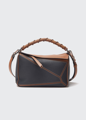 Loewe Puzzle Two-Tone Small Satchel Bag