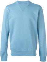 Maison Margiela elbow patch sweatshirt - men - Cotton/Calf Leather - 52
