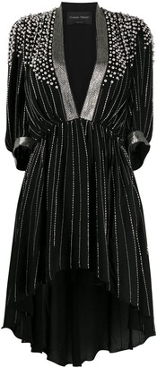 Christian Pellizzari Bead-Embellished Asymmetric Dress