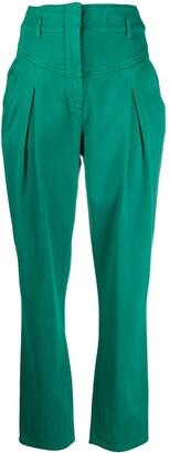 Alberta Ferretti High-Waisted Cropped Trousers