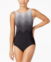 Reebok Electric Express High-Neck Active One-Piece Swimsuit
