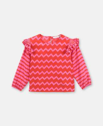 Stella McCartney Kids stripes tencel blouse