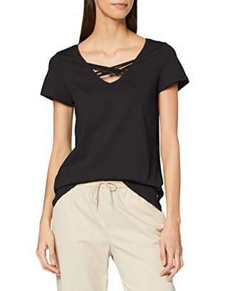 Tom Tailor Women's T-Shirt mit Schnürdetail