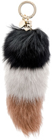 Jocelyn Colorblock Fox Fur Tail Keychain