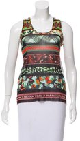 Jean Paul Gaultier Sleeveless Printed Mesh Top w/ Tags