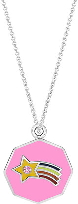 Swarovski My Very Own Jewels Girls' Necklaces - Pink Rainbow Pendant Necklace With Crystals