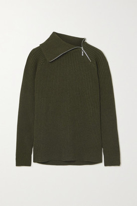 HOLZWEILER Ekornes Ribbed Wool Sweater - Dark green