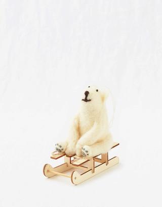 aerie Sass & Belle Felt Ornament - Polar Bear