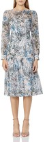Reiss Nyla Floral Silk Midi Dress
