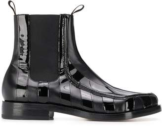 Magliano varnished stripe boots