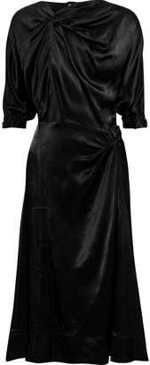 3.1 Phillip Lim Twist-front Satin Midi Dress