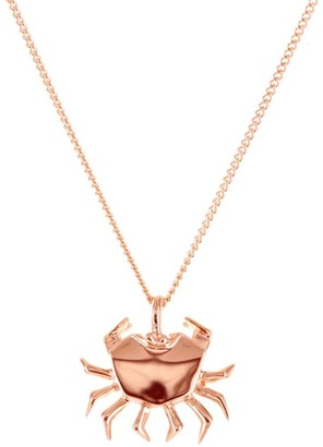 Origami Jewellery Mini Crab Necklace Rose Gold