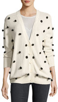The Great The Bobble Cardigan, White/Black