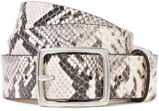 Rag & Bone Snake-effect Leather Belt